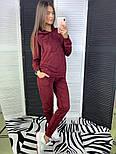 Женский стильный замшевый костюм с капюшоном (в расцветках), фото 5