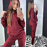 Женский стильный замшевый костюм с капюшоном (в расцветках), фото 9
