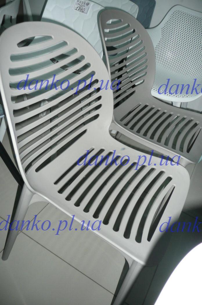 Стул пластиковый OW-241 SPICE (Спайс) светло-серый от Kashtan