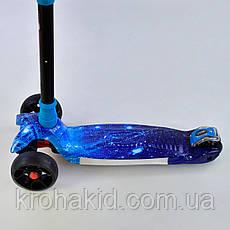 Самокат трехколесный UL - 61893 S  Best Scooter, 4 колеса PU со светом, d=12 см, СВЕТ ПЛАТФОРМЫ , фото 2