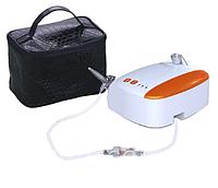 Набор для аэрографии (аэрографом с резьбовым соплом+миникомпрессор+фильтр) в кейсе