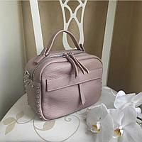 Купить кожаную итальянскую сумку , Итальянские кожаные сумки Пудровый цвет, фото 1