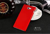 Чехол накладка бампер для Sony Xperia M2 D2305 D2302 бордовый