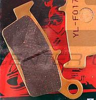 """Колодки тормозные (диск) Honda LEAD AF20 """"YONGLI PRO"""" (желтые)"""
