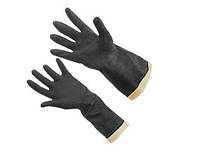Перчатки КЩС резиновые черные Vulkan