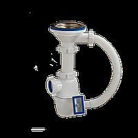 """Сифон для кухонной мойки 3 1/2""""выпуск 40 с переливом, Орио А-4007"""