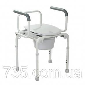 Стальной стул-туалет с откидными подлокотниками, OSD-2108D, фото 2