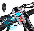 Велосипедный Фонарь с Компьютером и Звонком Stopwatch FY-317, фото 2