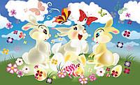 Фотообои для мальчиков и для девочек 254х184 см  : Детские, Три зайчика (546.20931)
