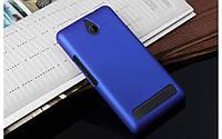 Чехол накладка бампер для Sony Xperia E1 D2005 / D2105 Dual синий