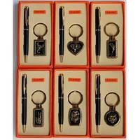 """Деловой набор """"Nobilis"""" 2в1 №4072, мужские подарочные наборы, набор 3 в 1 : ручка , брелок,зажигалка"""