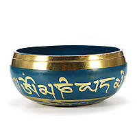85 мм Синий тибетский Yoga Поющий чаша Буддизм Резонанс медитации Chakara 1TopShop