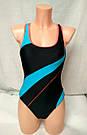 Купальник женский сплошной спортивный темно-синий, фото 4