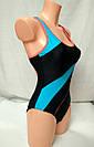 Купальник женский сплошной спортивный темно-синий, фото 5