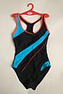 Купальник женский сплошной спортивный темно-синий, фото 7