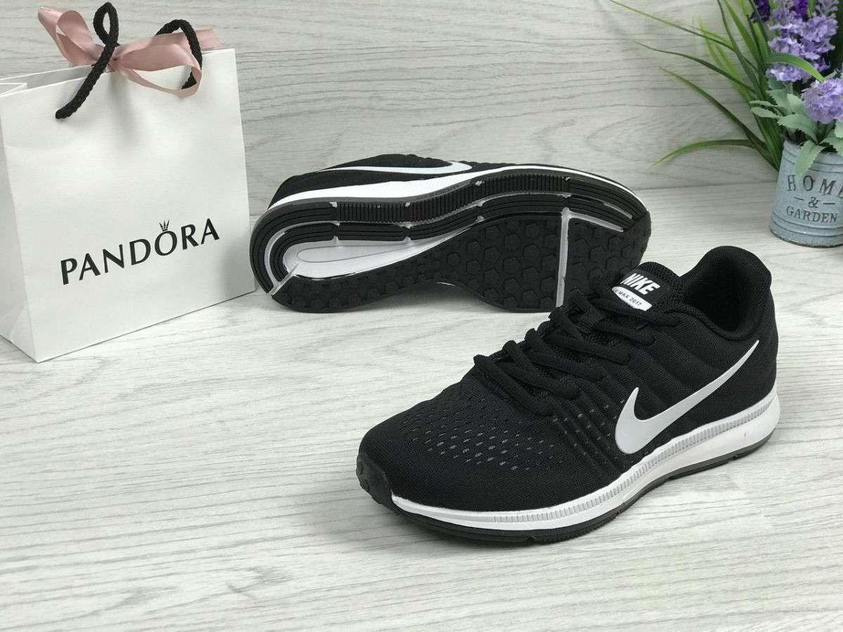 11266473 Кроссовки женские весенние черно-белые Nike Air Max 2017 4768 (реплика)