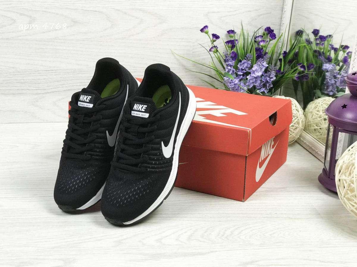 5705a17c ... фото Кроссовки женские весенние черно-белые Nike Air Max 2017 4768  (реплика), ...