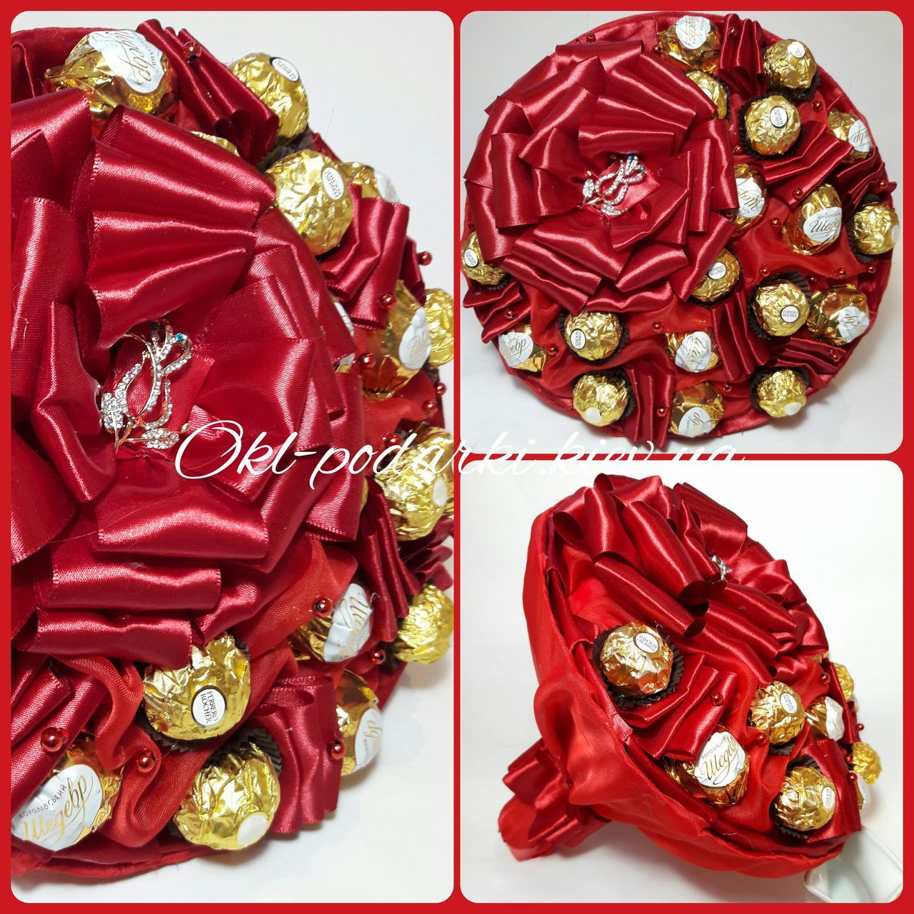 Букет из конфет Ferrero Rocher Красный