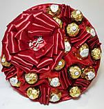 Букет из конфет Ferrero Rocher Красный, фото 4