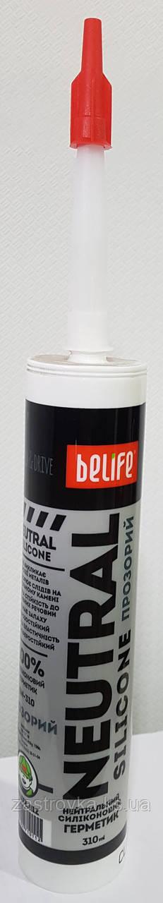 Герметик силиконовый санитарный прозрачный BeLife 310мл