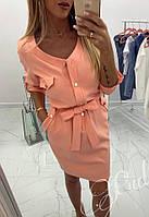 Платье женское лето Elegant (42/44, 44/46) (цвет коралл) СП