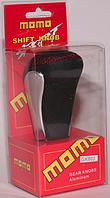Декоративная ручка КПП MOMO чорна шкіра, фото 1