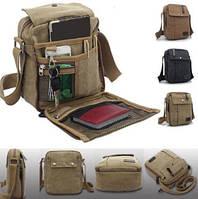 Тканевая удобная мужская сумка. Разные цвета