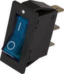 Перемикач IRS-101-2A SPST 3pin вузький синій з підсв.