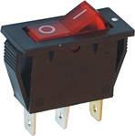 Перемикач IRS-101-2A SPST 3pin вузький червоний з підсв.