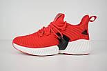Мужские кроссовки Adidas Alphabounce Instinct красные. Живое фото (Реплика ААА+), фото 2