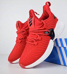 Мужские кроссовки Adidas Alphabounce Instinct красные. Живое фото (Реплика ААА+)