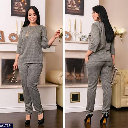 "Шикарный костюм двойка блуза и брючки ткань ""Драп"" размер 62 размер батал, фото 2"