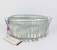 Поясная сумочка, бананка, сумочка через плечо Velina Fabbiano 551744 бирюзовая с перламутром, фото 1