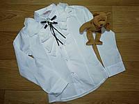 Нарядная белая рубашка с рюшами (Размер 8-9Т) StarKids