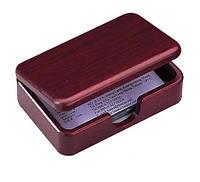 Деревянный контейнер для визиток BESTAR 1315WDM, красное дерево (1315WDM)
