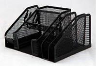 Подставка для офисных принадлежностей металлическая Buromax, черная (BM.6241-01)