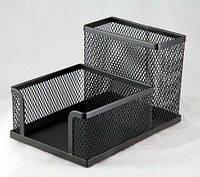 Подставка для офисных принадлежностей металлическая Buromax, черная (BM.6242-01)