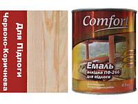Фарба Червоно-Коричнева ПФ-266 для підлоги  Комфорт 0.9 кг.