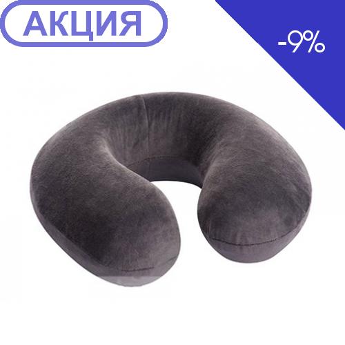 Ортопедическая подушка под голову для путешествий с эффектом памяти-рогалик ТОП-126/1 (,Россия) (Тривес)