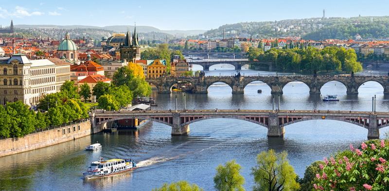 Пазлы Мосты через Влтаву, Прага на 4000 элементов