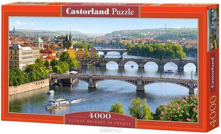 Пазлы Мосты через Влтаву, Прага на 4000 элементов, фото 2