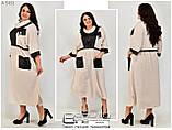 Льняное платье большого размера   62-64.66-68.70-72, фото 3