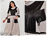 Льняное платье большого размера   62-64.66-68.70-72, фото 4
