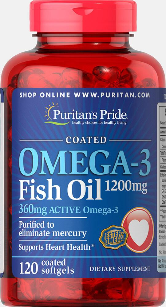 Omega-3 Fish Oil 1200 mg (360 mg Active Omega-3)100 Softgels
