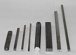 Шпонковий матеріал сталевий 45х25х4000 мм ст 45 шпонка