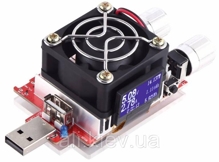 Электронная нагрузка 3A 35W  с USB/miniUSB/Apple/TypeC, тест кабелей, зарядок, павербанков, БП.