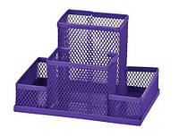 Подставка для офисных принадлежностей металлическая ZiBi, фиолетовая (ZB.3116-07)