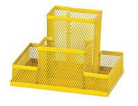 Подставка для офисных принадлежностей металлическая ZiBi, желтая (ZB.3116-08)