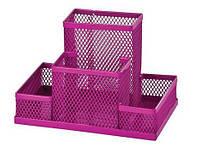 Подставка для офисных принадлежностей металлическая ZiBi, розовая (ZB.3116-10)