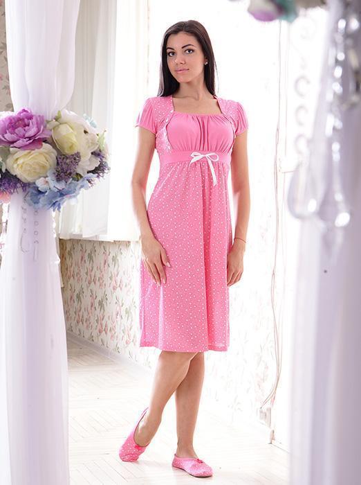 a597eef0953d Ночная Сорочка для Беременных и Кормящих Мам Размер L (48) Розовый ...